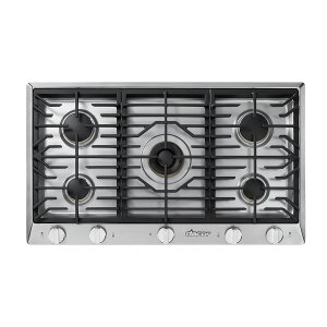 "DacorHeritage 36"" Professional Gas Cooktop, Liquid Propane/High Altitude"