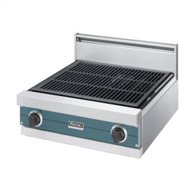 """Iridescent Blue 24"""" Gas Char-Grill - VGQT (24"""" wide char-grill)"""