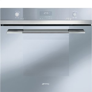 "Smeg76CM (30"") ""Linea"" Electric Multifunction Oven Silver Glass and Super Silver Glass"