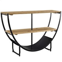 Uplift Natural Pine Wood and Steel Stand in