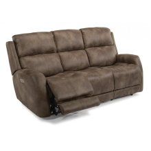 Zelda Fabric Power Reclining Sofa with Power Headrests
