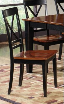 Dining Chair ( 2 Per Ctn) - Cherry / Black Finish