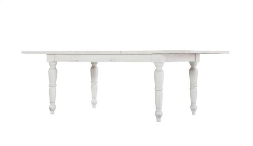 "Emerald Home Abaco Rectangluar Dining Table W/24"" Butterfly Leaf-country White D848-10"