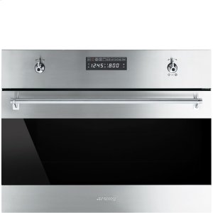 "Smeg60CM (Approx. 24"") ""Classic"" Built-in Steam Combination Oven, Fingerprint-Proof Stainless Steel"