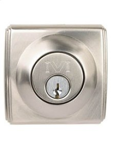 "Art Deco Deadbolt 2 3/4"" BS SC"