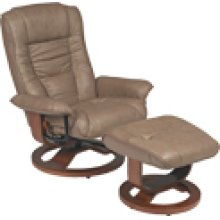 R-084 Mario Putty Leather Recliner