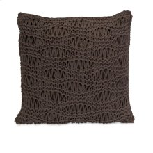 Satoria Chocolate Crochet Pillow