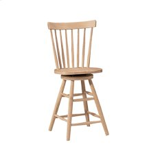 285-24 Wood seat only, 30''H stool also available (285-30)