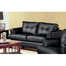 Samuel Transitional Black Loveseat