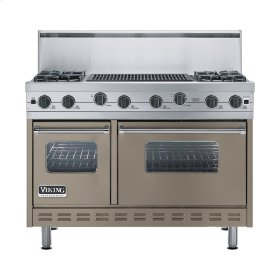 "Stone Gray 48"" Sealed Burner Range - VGIC (48"" wide, four burners 24"" wide char-grill)"