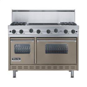 "Stone Gray 48"" Sealed Burner Range - VGIC (48"" wide, four burners 24"" wide char-grill)"
