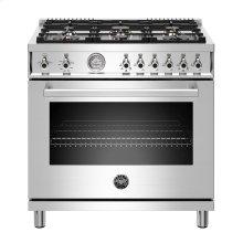 "36"" Professional Series range - Gas oven - 6 brass burners - LP version"