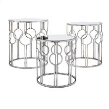 Margaret Mirror Accent Tables - Set of 3