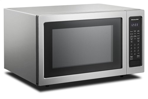 "21 3/4"" Countertop Convection Microwave Oven with PrintShield Finish - 1000 Watt - Stainless Steel"