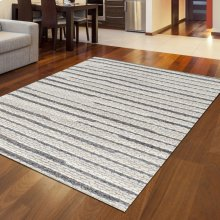 "Radici Bellissima 3 Gray/Silver Rectangle 2'0""X3'0"""