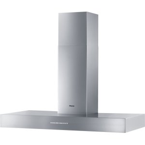 MieleWall ventilation hood with energy-efficient LED lighting and backlit controls for easy use.