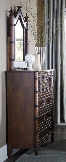Bamboo Door Dresser - Mahogany Emporium Finish