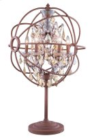 "1130 Geneva Collection Table Lamp D:22"" H:34"" Lt: Rustic Intent Finish (Royal Cut Golden Teak Crystals) Product Image"