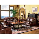 Princeton Traditional Brown Three-piece Living Room Set Product Image
