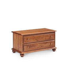 Georgia Blanket Chest with False Fronts, Wood Top