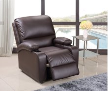 Brown Pu Leather Recliner