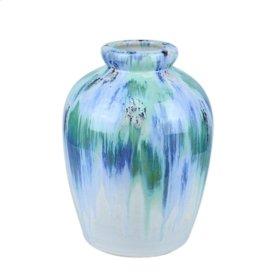 """Ceramic Vase, 11.5"""", Multi"""
