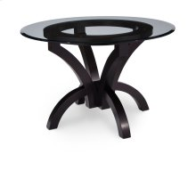 Adeline Single Pedestal Table with Glass Top, Glass Top
