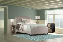 Kerstein Bed Set - Twin - Rails Included - Dove Gray