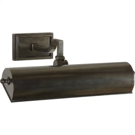 Visual Comfort AH2701GM Alexa Hampton Dean 40 watt 14 inch Gun Metal with Wax Picture Light Wall Light