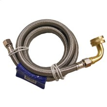 """3/8"""" OD x 3/8"""" MIP x 60"""" Stainless Steel Dishwasher Connection with Garden Hose Fitting and 90"""