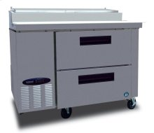 Refrigerator, Single Section Pizza Prep Table with Drawers