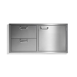 "Sedona42"" storage door & double drawer combo - Sedona by Lynx Series"