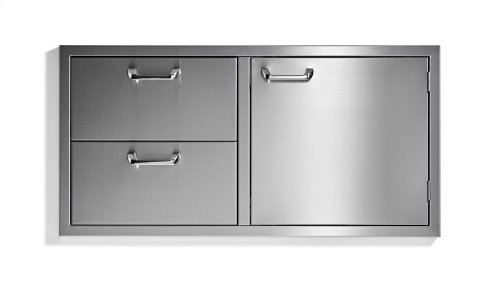 "42"" storage door & double drawer combo - Sedona by Lynx Series"