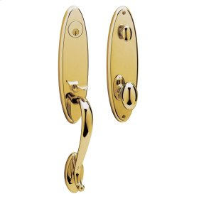 Non-Lacquered Brass Blakely Handleset