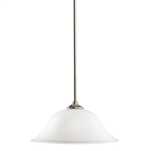 Wedgeport 1 Light Pendant with LED Bulbs Brushed Nickel
