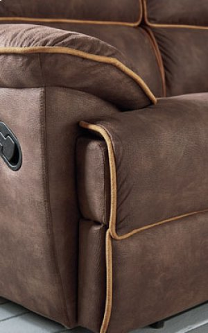 Armless Chair, Brown Fabric