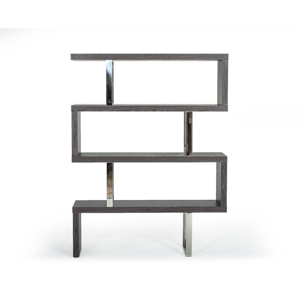 Modrest Maze Modern Grey Elm Bookcase