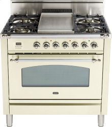 "Antique White - Nostalgie 36"" Gas Range"