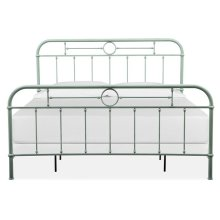 Complete King Metal Bed - Green