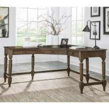 Cordero - Corner Desk - Aged Oak Finish