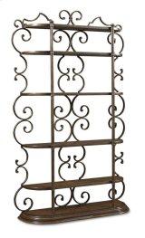 Continental Bookcase Etagere - Weathered Nutmeg/glazed Ingot Product Image