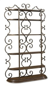 Continental Bookcase Etagere - Weathered Nutmeg/glazed Ingot Product Image