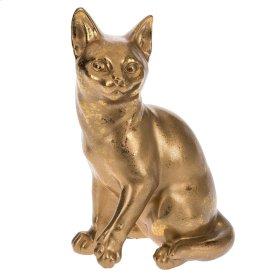 Gold Cat Figurine.