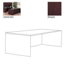 DESK SHELL,MAHONGANY 72X36X29