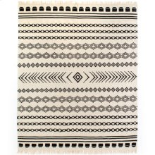 9'x12' Size Black Patterned Stripe Rug