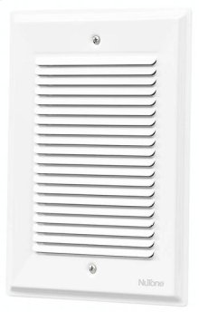 "Decorative Wired Door Chime, 5-5/8""w x 7-7/8""h, in White"