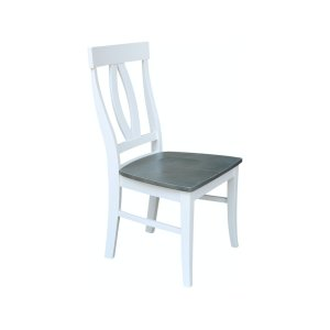 JOHN THOMAS FURNITUREVerona Chair in Heather Gray & White