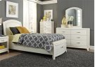Twin Leather Storage Bed, Dresser & Mirror Product Image