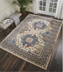 Cordoba Crd01 Ivory Blue Rectangle Rug 7'10'' X 10'6''