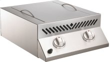 Built-in Flat Top SIZZLE ZONE Two Infrared Burners , Stainless Steel , Natural Gas